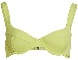 Jonathan Simkhai Lia Solid Bustier Bikini Top