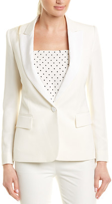 Stella McCartney Peak Lapel Silk-Lined Wool Blazer