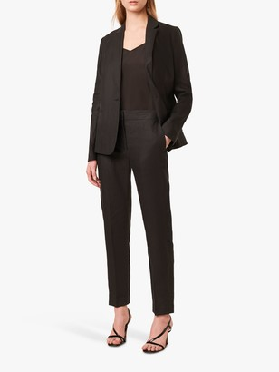 French Connection Linen Suit Trousers, Black