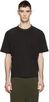 Wooyoungmi Black Contrast Collar T-shirt