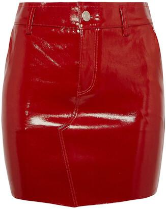 RtA Patent-leather Mini Skirt