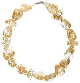 Jackie Brazil Flintstone Flakes Necklace, Gold