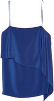 Tibi Layered silk crepe de chine camisole