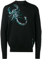 Diesel Black Gold scorpion pattern jumper - men - Cotton - M
