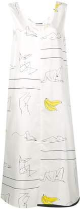 Jil Sander Sketch Print Dress