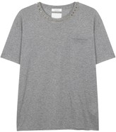Valentino Rockstud Grey Cotton T-shirt