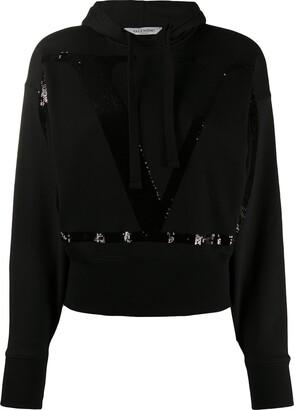 Valentino sequinned-VLOGO hoodie