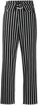 Pinko striped straight leg trousers
