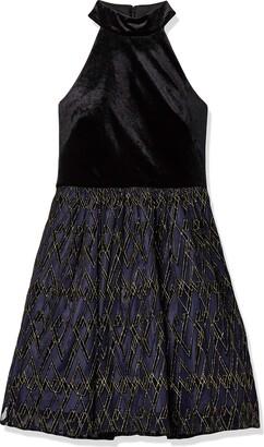 Chetta B Women's High Neck Party Dress