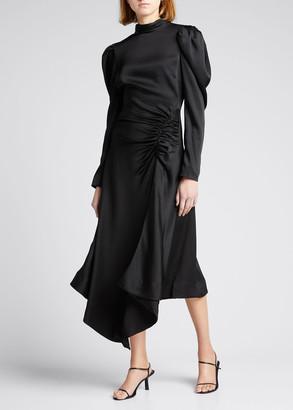 Jonathan Simkhai Reese Crepe Long-Sleeve Cocktail Dress