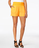 Amy Byer Juniors' Embroidered Ruffle Soft Shorts