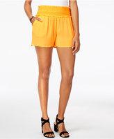BCX Juniors' Embroidered Ruffle Soft Shorts