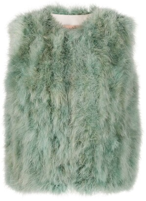 Yves Salomon Feather Gilet Jacket