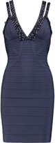 Herve Leger Embellished bandage mini dress