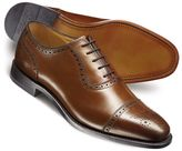 Charles Tyrwhitt Brown Clarence toe cap brogue shoes