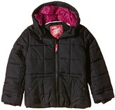 Puffa Girl's Core Hooded Plain Coat