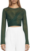 BCBGMAXAZRIA Karsyn Wrap Crop Top