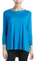 Magaschoni Silk & Cashmere Blend Crew Neck Sweater.