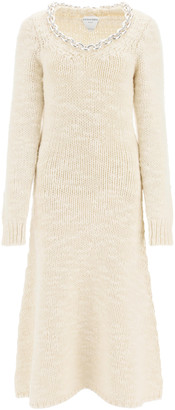 Bottega Veneta LONG DRESS WITH CHAIN M White Wool