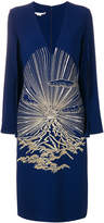 Stella McCartney embroidered cape dress