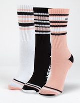 Vans 3 Pack Double Play Womens Crew Socks
