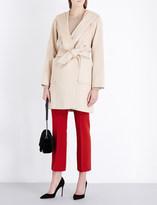 Max Mara Hooded tie-waist camel hair coat