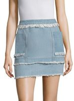 Nicholas N Panelled Denim Mini Skirt