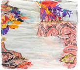 Etro mixed floral and paisley print scarf