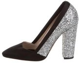 Giambattista Valli Glitter Round-Toe Pumps