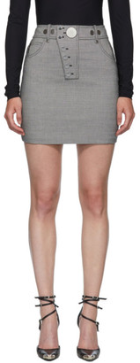 Alexander Wang Black and White Snap Front Miniskirt