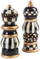 Mackenzie Childs Courtly Check Salt and Pepper Mills (Set of 2)