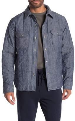 Save Khaki Quilted Chambray Shirt Jacket