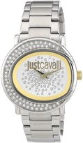 Just Cavalli Women's R7253186502 Lac Stainless Steel Dial Swarovski Crystal Watch