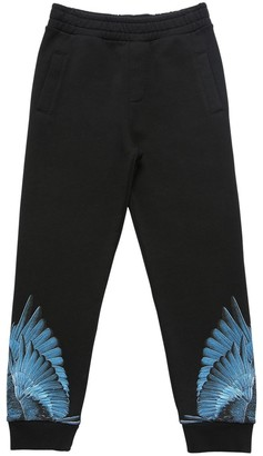Marcelo Burlon County of Milan Wings Print Cotton Blend Sweatpants