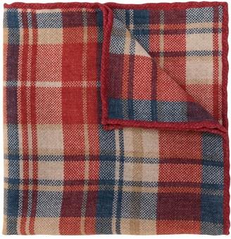 Brunello Cucinelli Tartan Pattern Wool Scarf