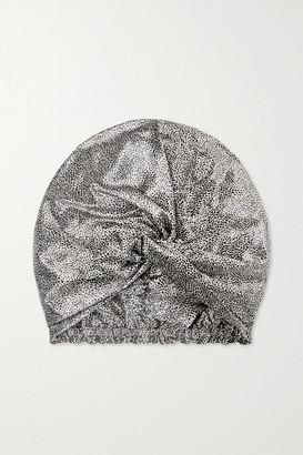 Slip Pure Silk Turban - Leopard print