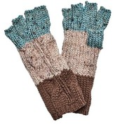 San Diego Hat Company Women's Knit Patchwork Fingerless Glove KNG3459