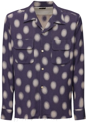 Needles Polka Dot Cupro Blend Jacquard Shirt