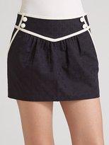 Piped Sailor Mini Skirt