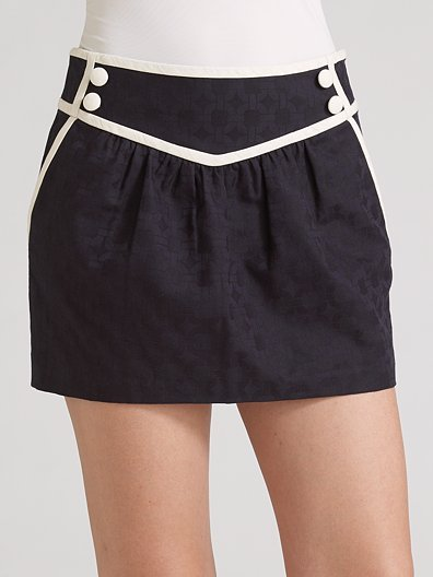 Milly Piped Sailor Mini Skirt