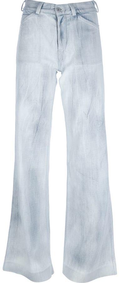 Ralph Lauren Purple bleach effect flared jean