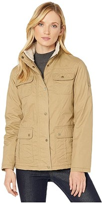 Lauren Ralph Lauren Waxed Cotton Field Jacket (Khaki) Women's Clothing