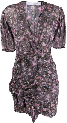 IRO Floral Print Fitted Dress