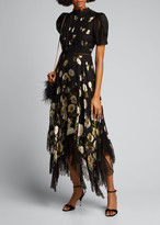 Alice + Olivia Bettina Floral Handkerchief Dress