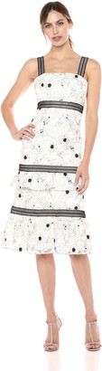 Aidan Mattox Aidan Women's Floral Embroidered Cocktail Dress