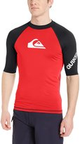 Quiksilver Men's All Time Short Sleeve Rash Guard, Safety Yellow/Black
