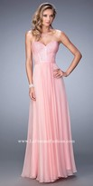 La Femme Crystalized Sweetheart Bodice Prom Dress