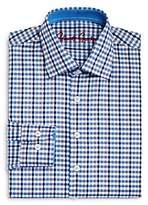 Robert Graham Boys' Blue Multi-Check Dress Shirt - Big Kid