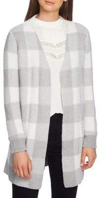 1.STATE Plaid Open-Front Cardigan