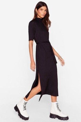 Nasty Gal Tee BT Belted Midi Dress
